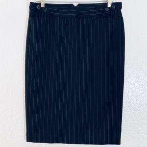 Norma Kamali Pinstriped Pencil Skirt Size 6